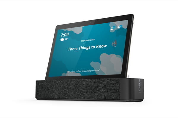 lenovo ces 2019 announcements 01 smart tab m10 with dock hero front facing left ambient home
