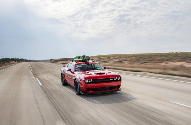 hennessey and dodge takes record for worlds fastest christmas tree 174mph 02