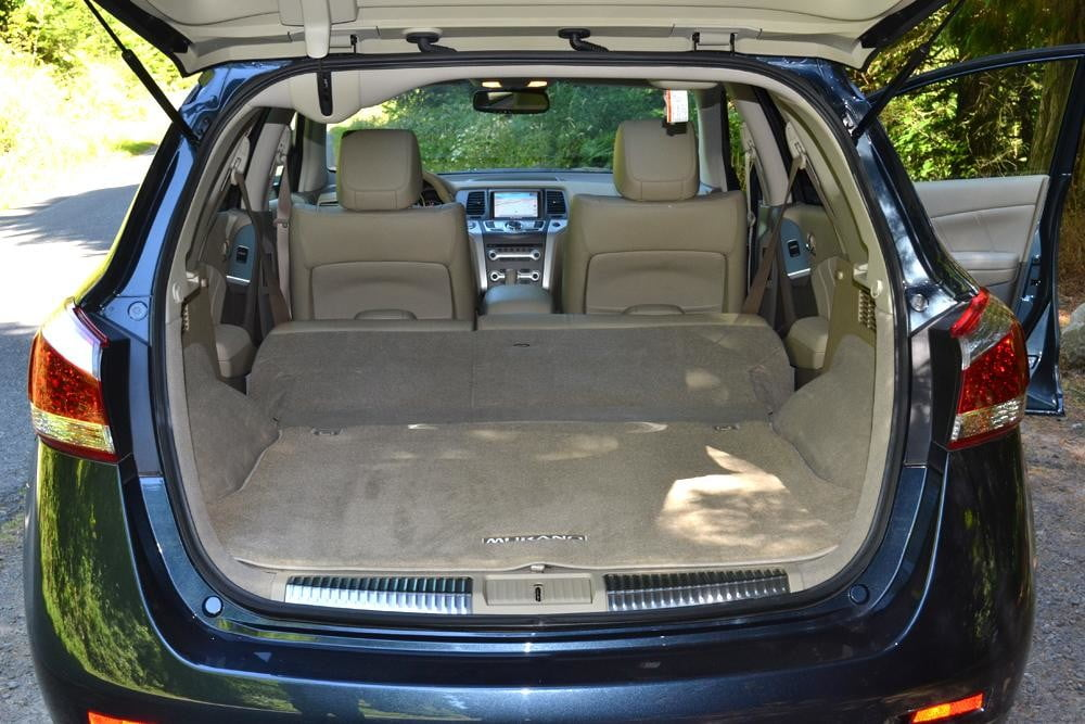 Nissan Murano Crossover Review Interior Trunk on 2014 Nissan Rogue Cargo Space