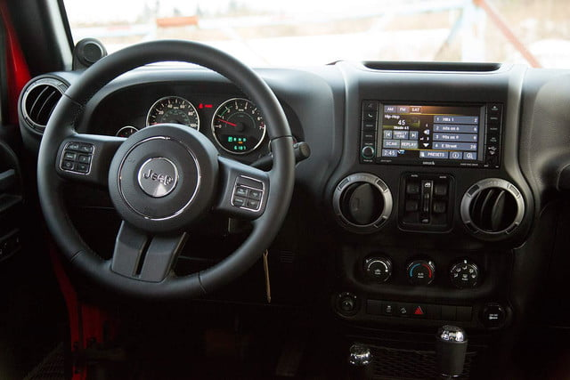2014 Jeep Wrangler Unlimited Sport interior driver side
