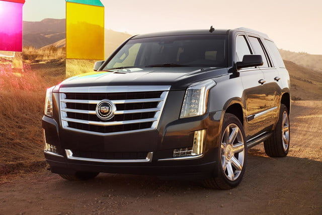 2015 Cadillac Escalade front left angle outside