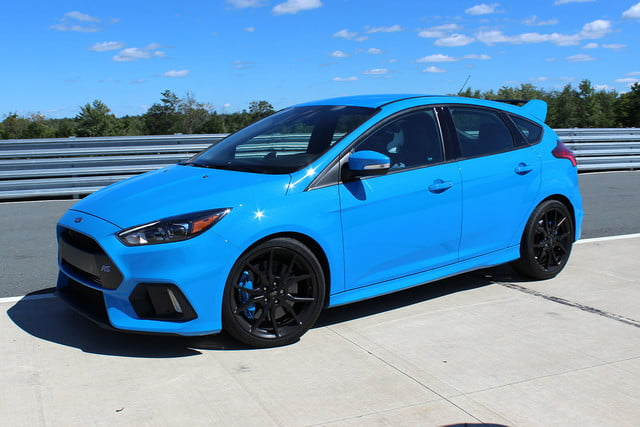 2016 ford focus rs first drive front angle
