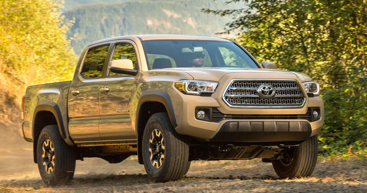 best cars for camping 2016 toyota tacoma trd off road front angle 1200x630 c