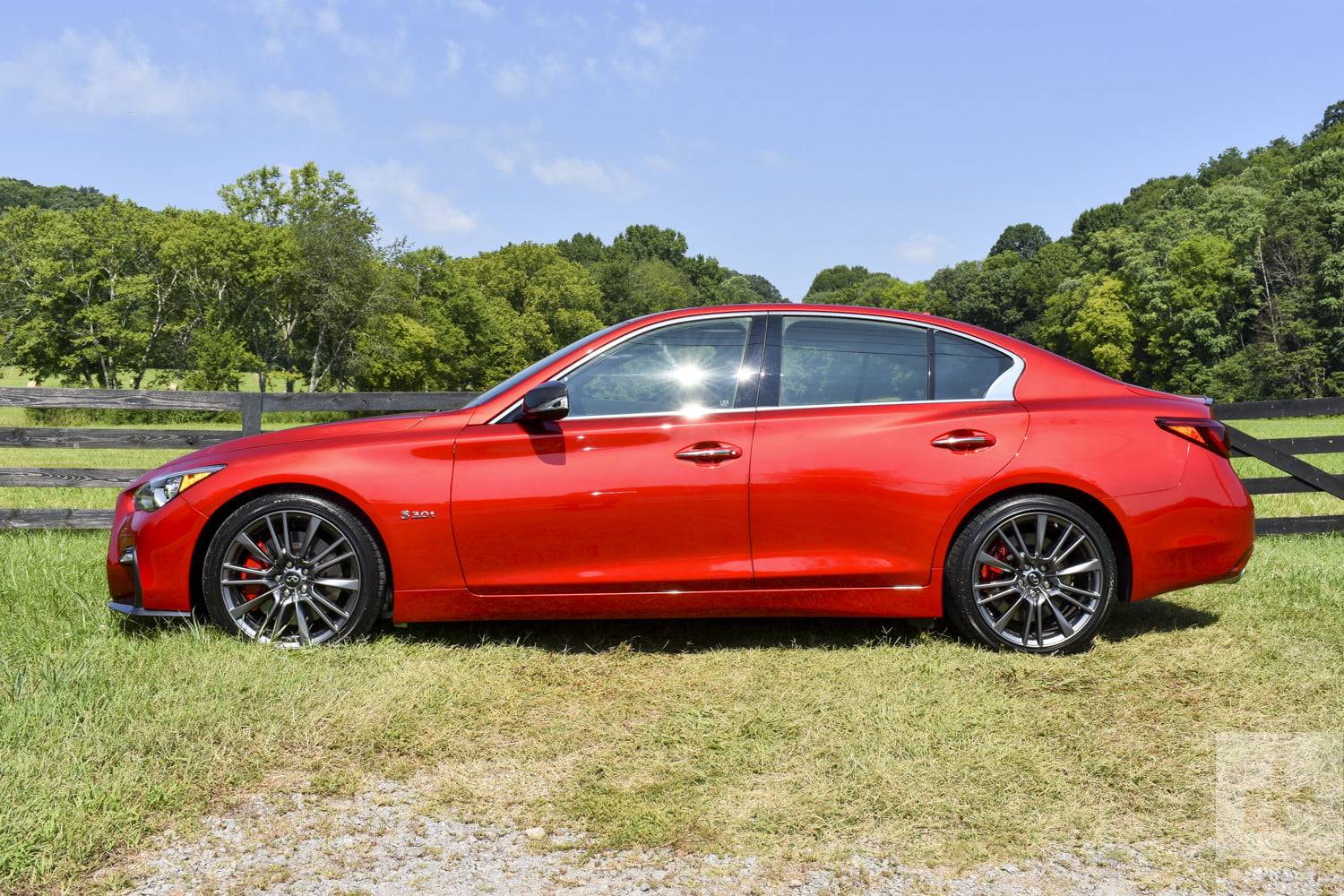 2018 infiniti red sport review. brilliant 2018 2018 infiniti q50 side shot perpendicular to the car and infiniti red sport review i