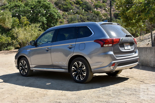 2018 Mitsubishi Outlander PHEV first drive review back left angle