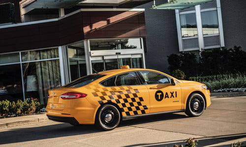 Ford Introduces Fusion Hybrid and Transit Connect Diesel Taxis