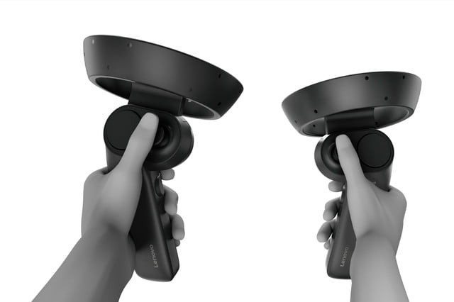 lenovo announces explorer windows mixed reality headset 26 vr controllers with hand