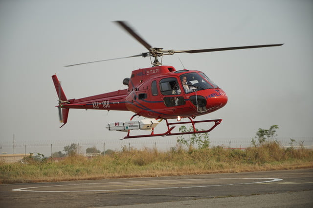cambodia lidar scan helicopter with laser mapping system