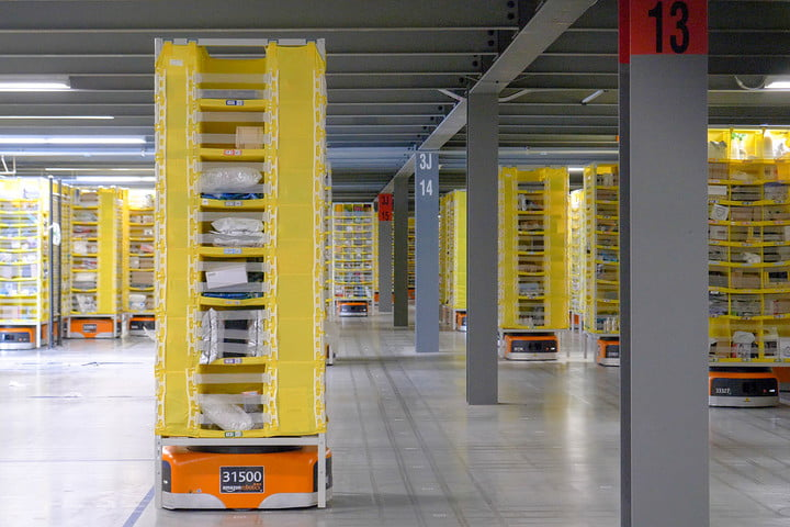 amazon warehouse tour fulfillment center shelves 2