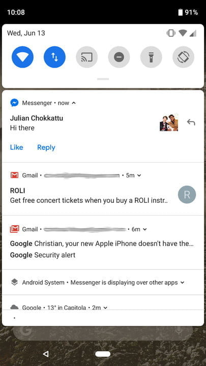 android p vs ios 12 notifications 1