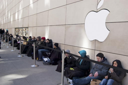 Image result for iphone people in line
