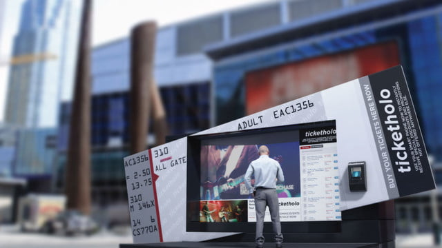 humagrams are interactive holograms you can talk to arht media ticket booth display lg