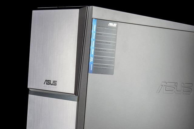 ASUS M70AD US003S review desktop front angle macro