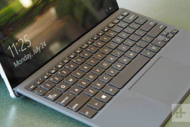 Asus Transformer T304 review keyboard angle