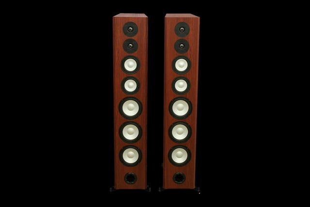 Axiom LFR1100 Floorstanding Speakers Boston Cherry front no grille