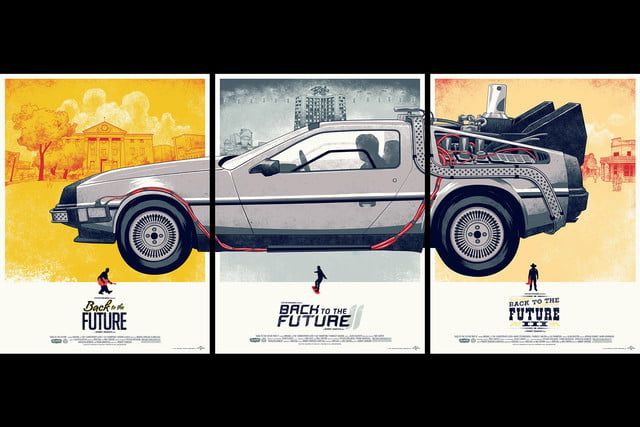best stranger things style movie posters back to the future trilogy by phantom city creative