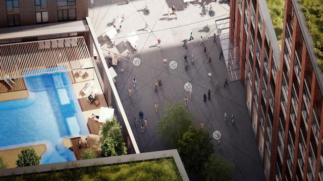this swimming pool will be 100 feet in the air and join two buildings ballymore embassy gardens 9