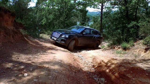 bentley bentayga suv goes off road in new teaser video 04a