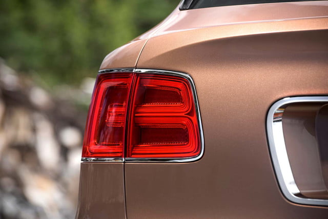 bentley says its bentayga suv can do it all but will customers bite  tail lamp detail