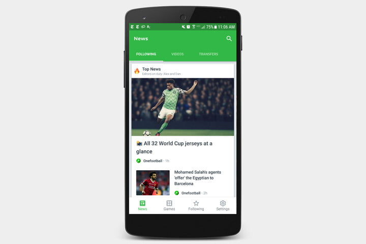best apps for 2018 world cup onefootball