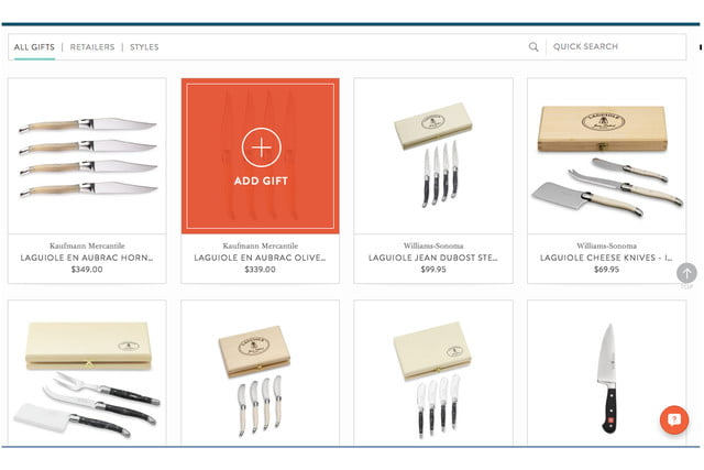blueprint registry lets you find wedding gifts room by 2