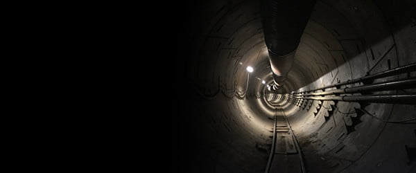 How do you test a Hyperloop tunnel? Drive a Tesla down it, obviously