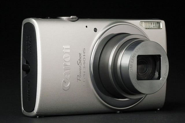 Canon ELPH 340HS front angle lens