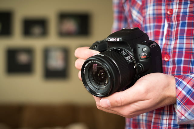 Canon EOS Rebel SL2 review in hand