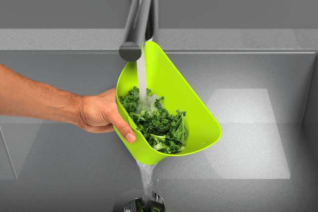 choptainer is a bin that gives you more cutting board space colander