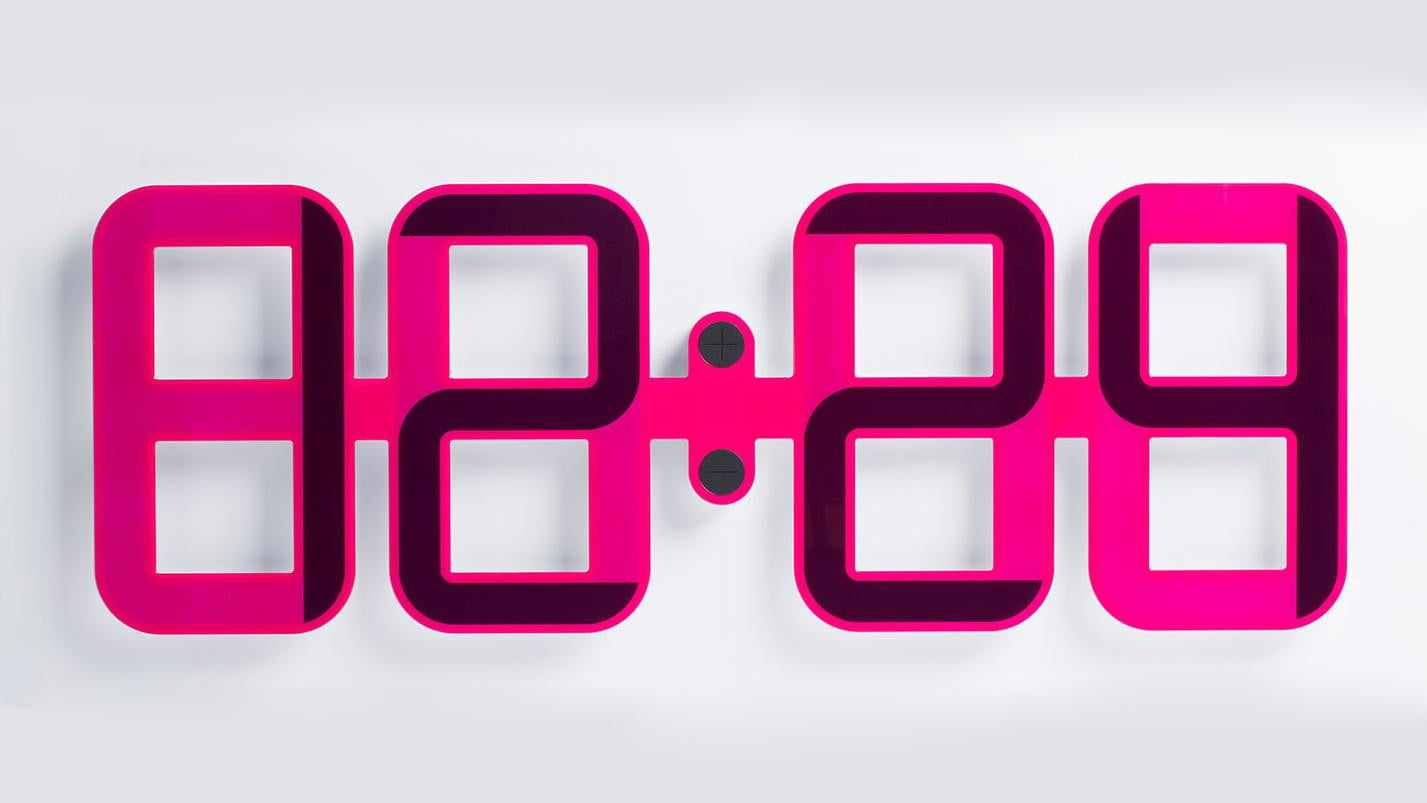 Clockone is a giant digital clock made of e ink digital trends clockone amipublicfo Images