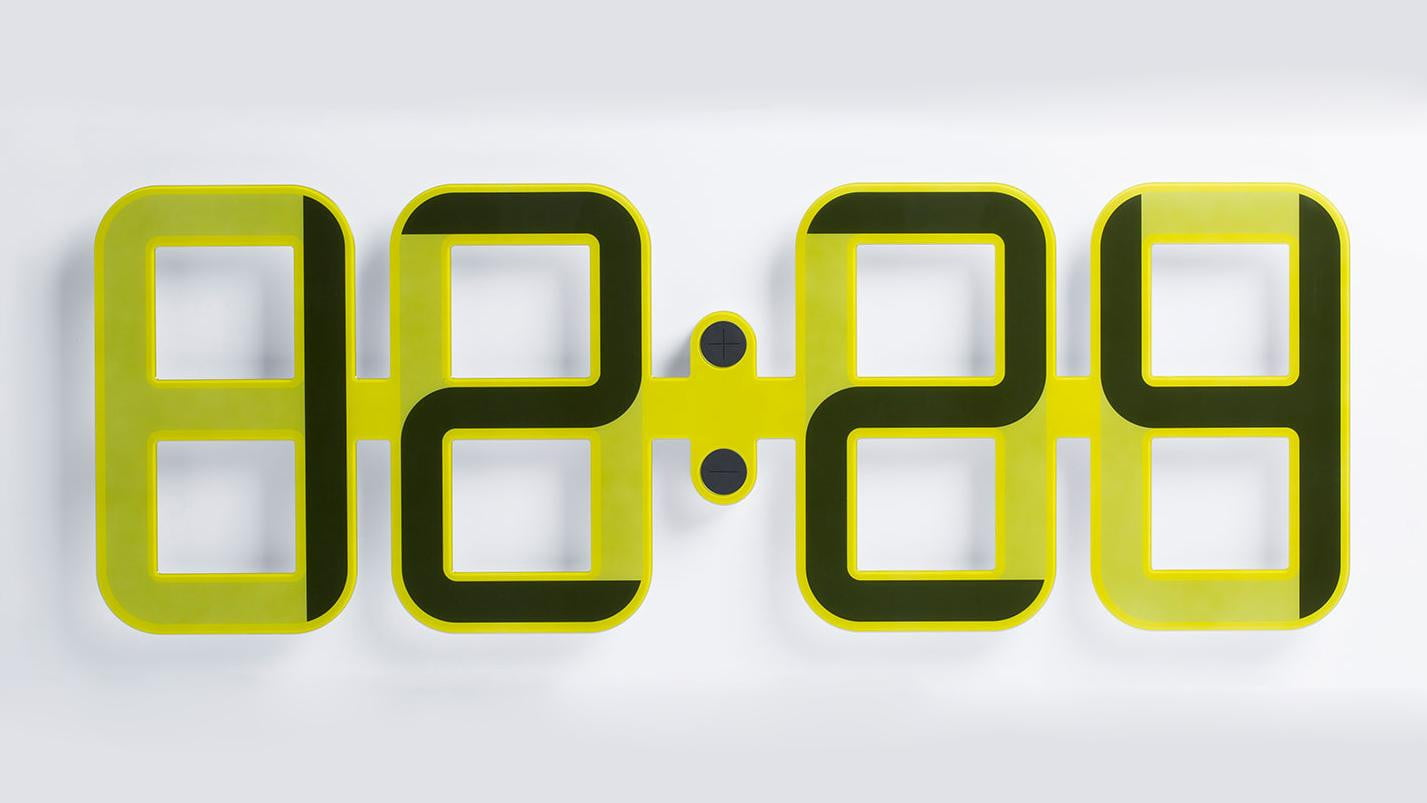 Clockone is a giant digital clock made of e ink digital trends clockone amipublicfo Gallery