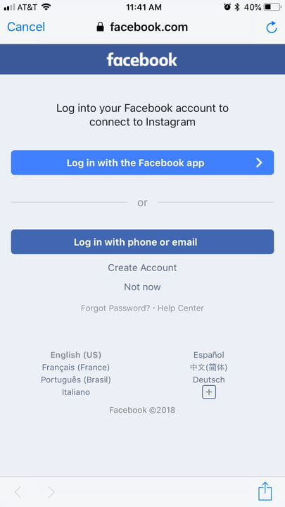 how to link instagram facebook connecting insta