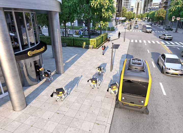 robot delivery dog ces 2019 continental pp cube robodogs