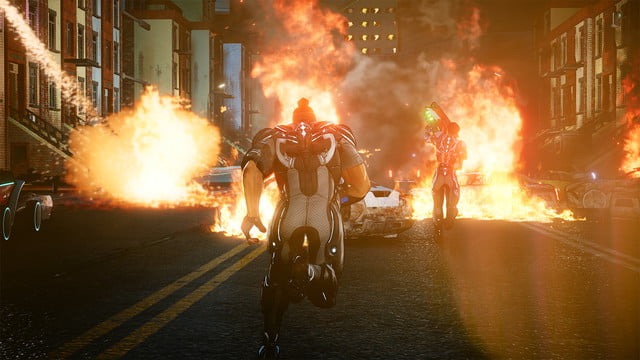 crackdown 3 review screenshot cars on fire