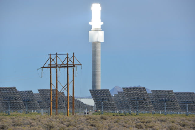 peek inside nevada solar plant 247 power molten salt crescent dunes will deliver enough firm  reliable electricity from energ