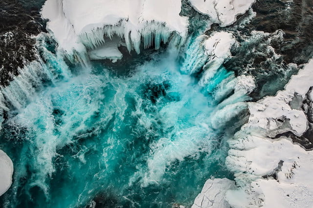 best drone photos crevice