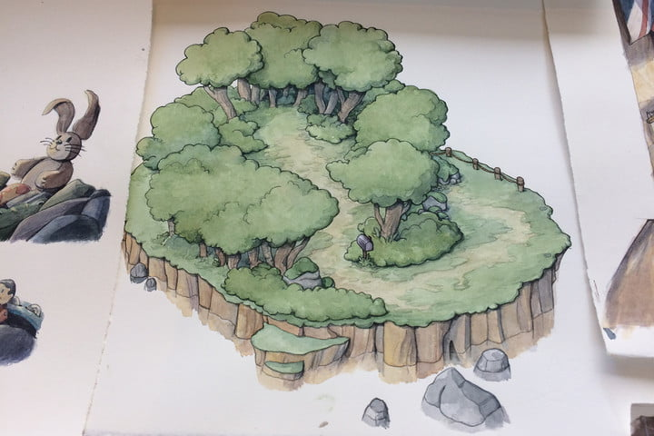 cuphead art forest