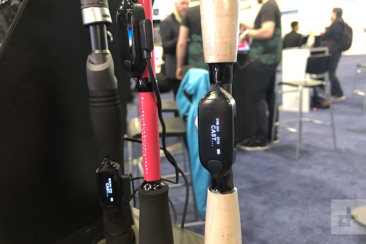 cyberfishing smart rod sensor allows fishing rods to record catches ces 2019 5