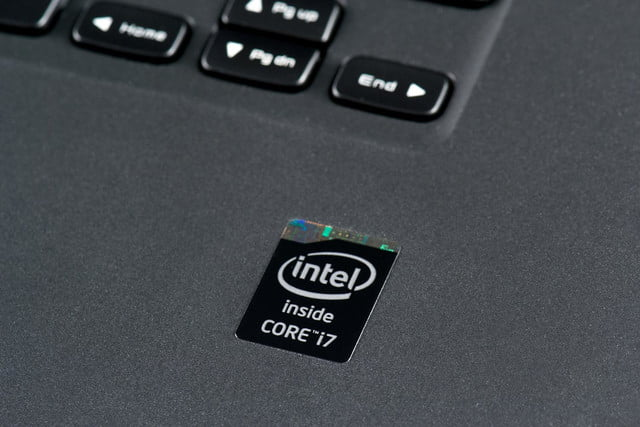 Dell XPS 15 review Intel logo