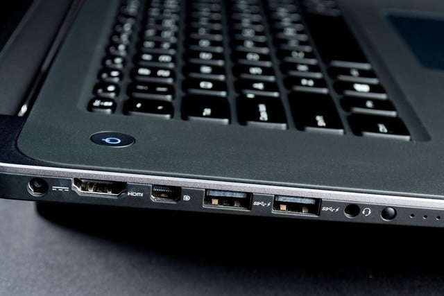 Dell XPS 15 review right side ports