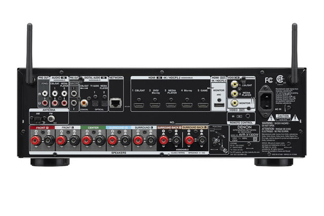 denon announces avr x1300 x2300 receivers x1300w back