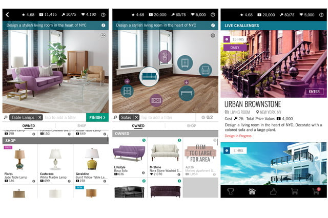39 design home 39 lets you play interior decorator with for Room design game app