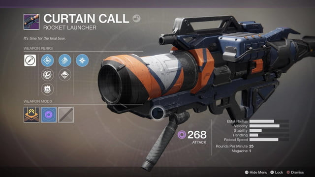 destiny-2 best weapons curtain-call