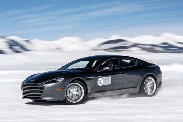 2016 aston martin on ice first drive 01 am rapide