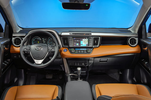 2016 toyota rav4 first drive limited hybrid interior 2