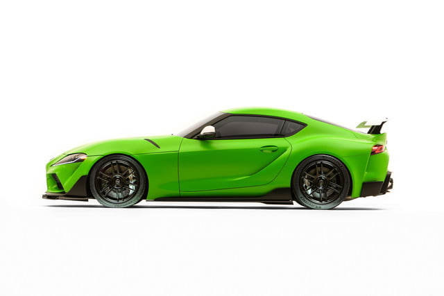 toyota displaying eight supra based builds at sema 2019 grsupra wasabi 08