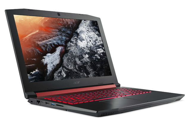 acer introduces nitro 5 gaming notebook gtx 1050 ti intel optane front left angle