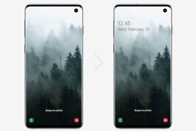 one ui beta launches for galaxy s10 in the us android 10 lockscreen