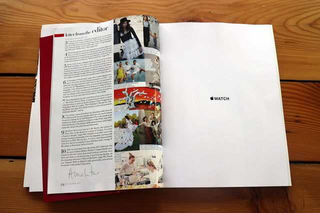 apple watch splashed across 12 pages of vogues march issue vogue ad 6100