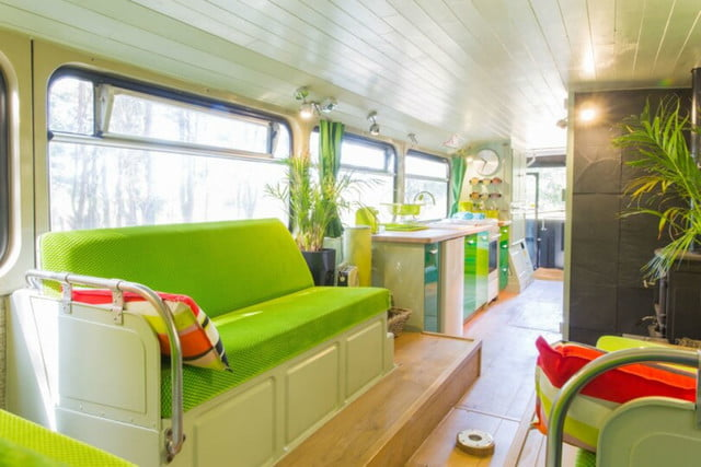 coolest bus to mobile home conversions biggreenbus4
